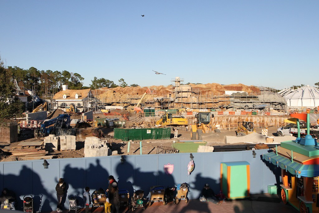 Fantasyland construction site