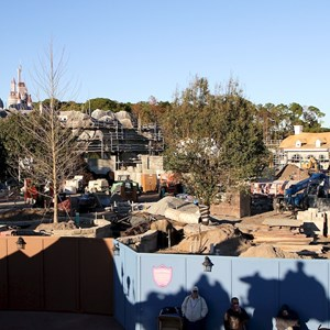 5 of 11: Fantasyland - Fantasyland construction site