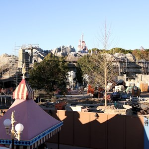 6 of 11: Fantasyland - Fantasyland construction site