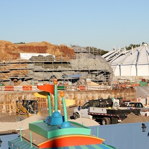9 of 11: Fantasyland - Fantasyland construction site