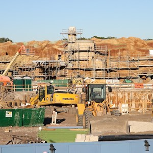 10 of 11: Fantasyland - Fantasyland construction site