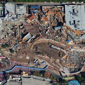 1 of 7: Fantasyland - Aerial Construction photos