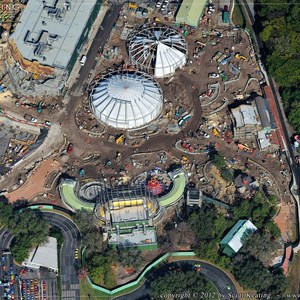 2 of 7: Fantasyland - Aerial Construction photos