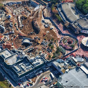 3 of 7: Fantasyland - Aerial Construction photos