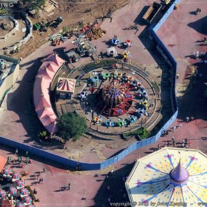 4 of 7: Fantasyland - Aerial Construction photos