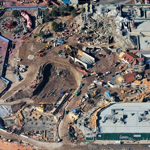 5 of 7: Fantasyland - Aerial Construction photos