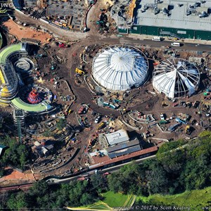 6 of 7: Fantasyland - Aerial Construction photos