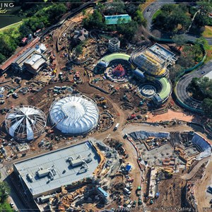 7 of 7: Fantasyland - Aerial Construction photos