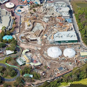 1 of 3: Fantasyland - Aerial view of construction site