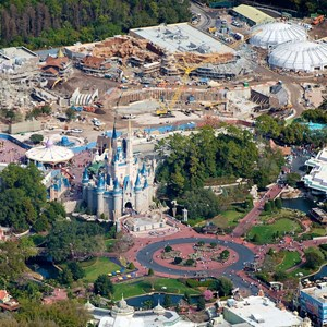 3 of 3: Fantasyland - Aerial view of construction site