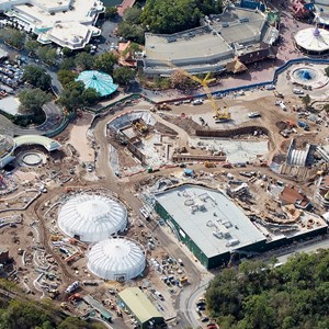 2 of 3: Fantasyland - Aerial view of construction site