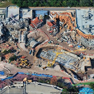 3 of 4: Fantasyland - Aerial Construction photos