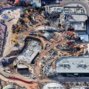4 of 4: Fantasyland - Aerial Construction photos