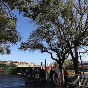 1 of 81: Fantasyland - A small crowd gathers at park opening for a possible soft opening