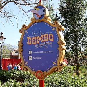 7 of 81: Fantasyland - Dumbo signage