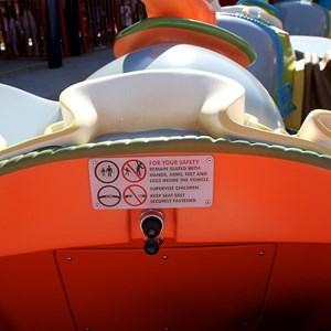 14 of 81: Fantasyland - Inside the Dumbo ride vehicle