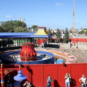 17 of 81: Fantasyland - View of the second Dumbo still under construction