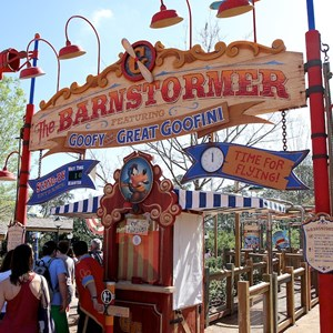 25 of 81: Fantasyland - Barnstormer entry