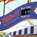 Fantasyland - Barnstormer standby line clock