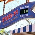 Fantasyland - Barnstormer standby line clock