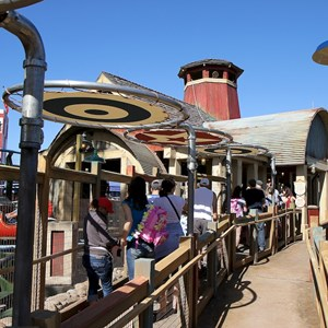 34 of 81: Fantasyland - Barnstormer queue area