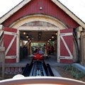 Fantasyland - Barnstormer pulling into the station
