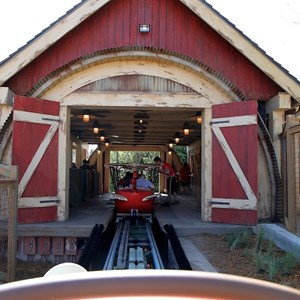 48 of 81: Fantasyland - Barnstormer pulling into the station