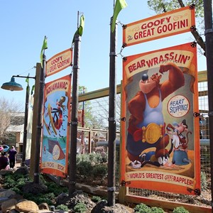 52 of 81: Fantasyland - Signage outside the Barnstormer