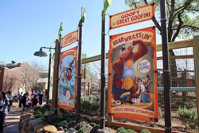 Fantasyland - Signage outside the Barnstormer
