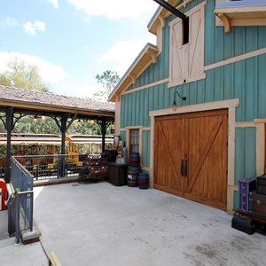58 of 81: Fantasyland - Fantasyland station exit area