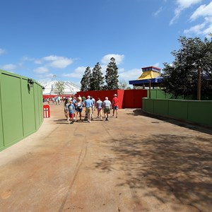 72 of 81: Fantasyland - The entrance to Storybook Circus from the walkway by Teacups