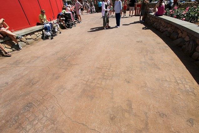 Fantasyland - More of the detailed concrete work