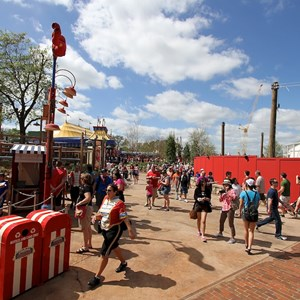 77 of 81: Fantasyland - A wide view of Storybook Circus