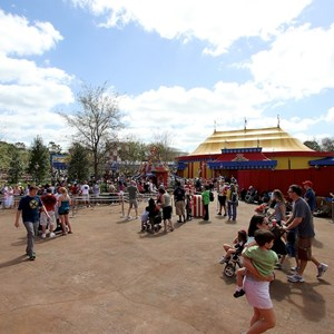 81 of 81: Fantasyland - The new Dumbo area, with the right side still under construction