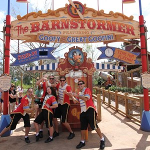24 of 81: Fantasyland - Barnstormer opening day Cast Members