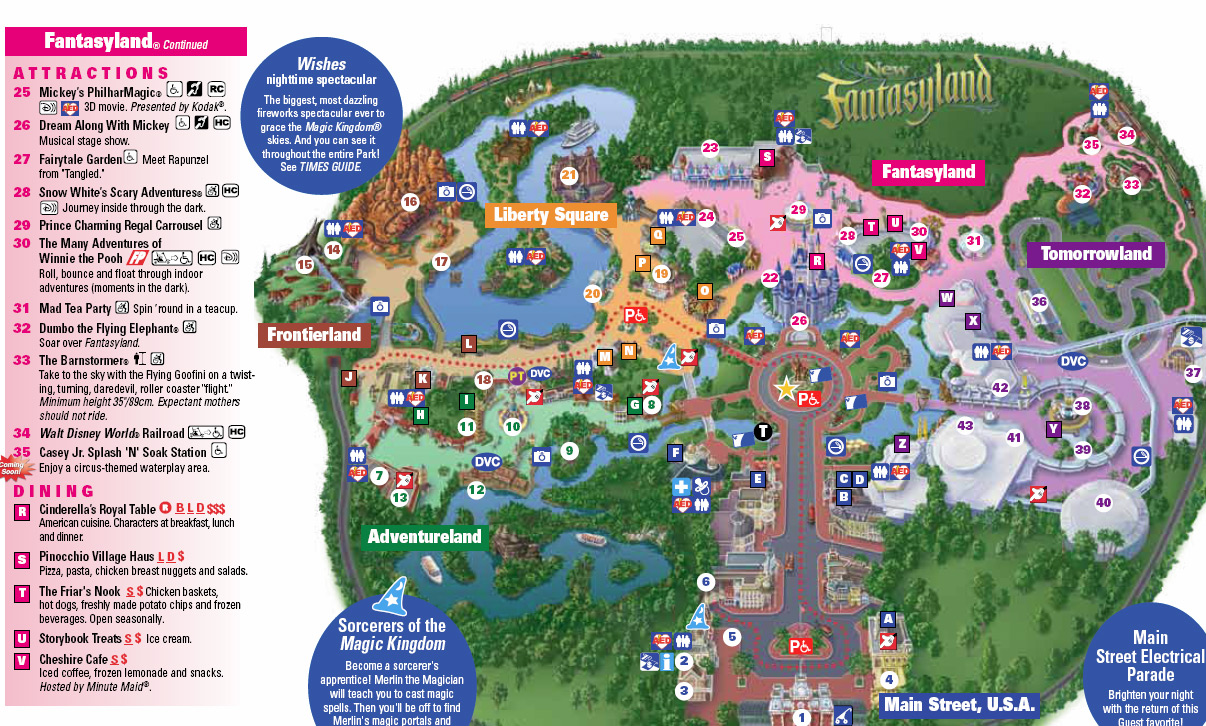 Magic Kingdom Map With New Fantasyland New Magic Kingdom Map