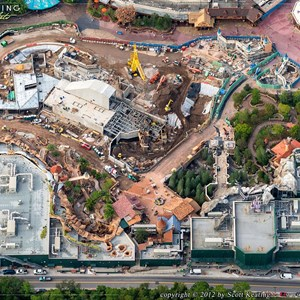 2 of 8: Fantasyland - Fantasyland aerial views of construction