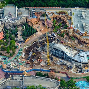 3 of 8: Fantasyland - Fantasyland aerial views of construction