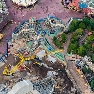 4 of 8: Fantasyland - Fantasyland aerial views of construction