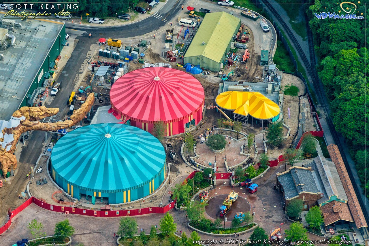 Fantasyland aerial views of construction