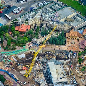 6 of 8: Fantasyland - Fantasyland aerial views of construction