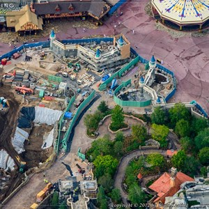 7 of 8: Fantasyland - Fantasyland aerial views of construction