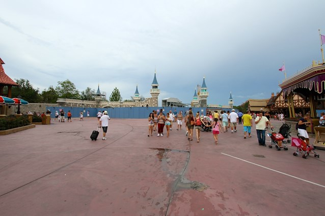 Fantasyland - Approaching the new castle walls