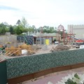 Fantasyland - The overall view of the new Fantasyland restrooms in the former skyway station area