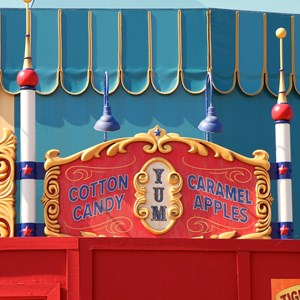 4 of 5: Fantasyland - Big Top Souvenirs signage in Storybook Circus
