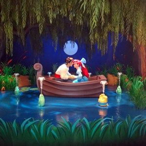 1 of 3: Fantasyland - Inside 'Under the Sea ~ Journey of the Little Mermaid' - 'Kiss the Girl' scene