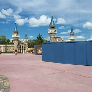 1 of 27: Fantasyland - Fantasyland Enchanted Forest castle wall