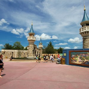 2 of 27: Fantasyland - Fantasyland Enchanted Forest castle wall