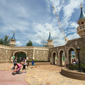 3 of 27: Fantasyland - Fantasyland Enchanted Forest castle wall