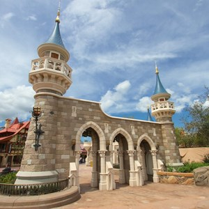 8 of 27: Fantasyland - Fantasyland Enchanted Forest castle wall